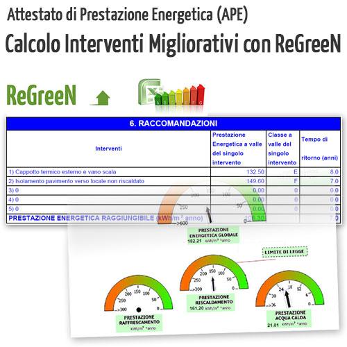 Attestato di prestazione energetica: interventi migliorativi con ReGreeN